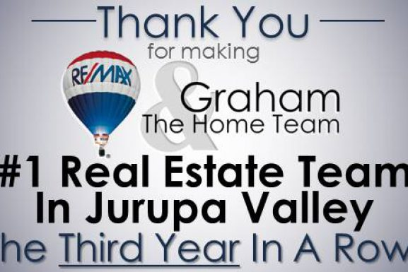 Graham and The Home Team- #1 Real Estate Team in Jurupa Valley, 2016