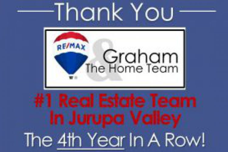 #1 Jurupa Valley Real Estate Team… AGAIN! Graham and The Home Team